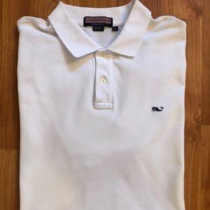 Vineyard Vines short sleeve white polo golf shirt